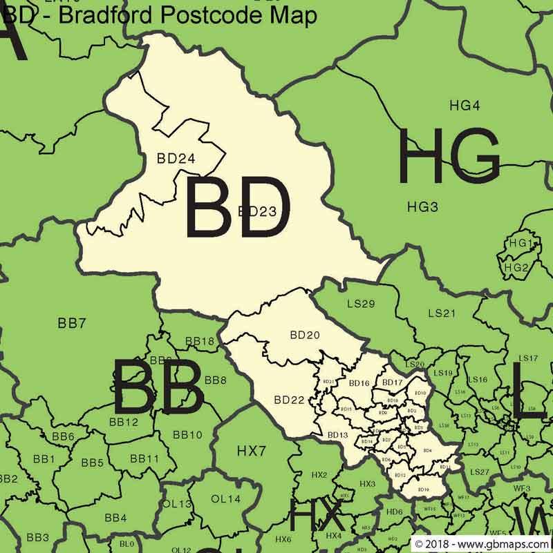 Bradford-Postcode-Map