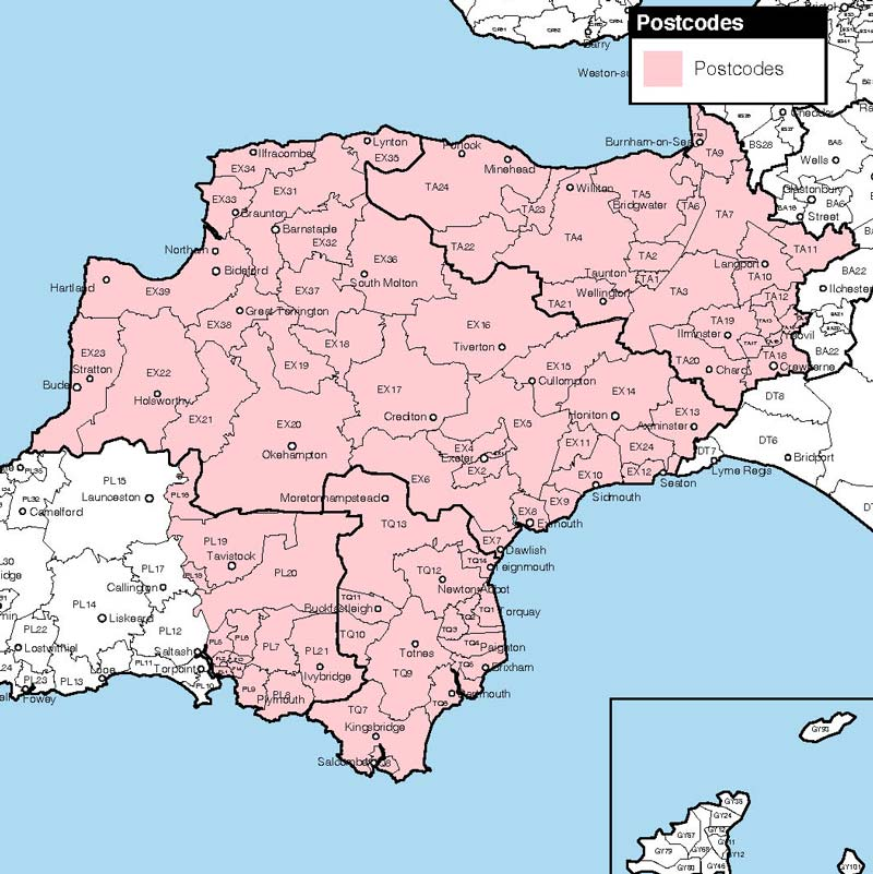 Devon-&-TA-Postcodes