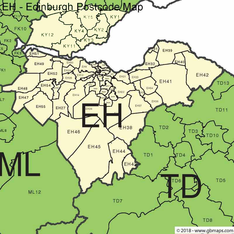 Edinburgh-Postcode-Map
